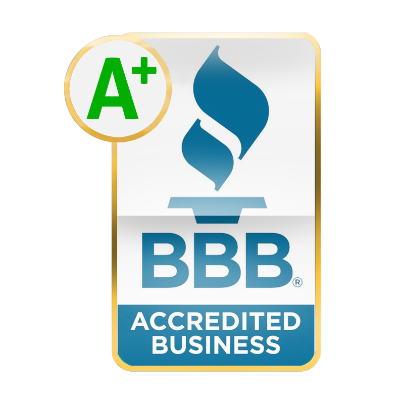 Better Business Bureau A plus rated business